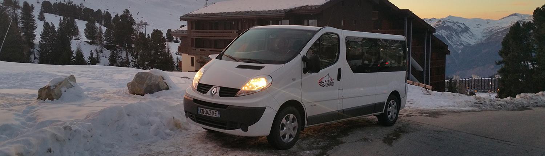 Taxi La Plagne véhicules Trafic